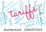 tariffs word cloud on a white... | Shutterstock .eps vector #1200297622
