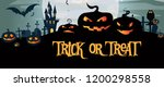 trick or treat banner design... | Shutterstock .eps vector #1200298558