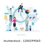 time management  distribution... | Shutterstock .eps vector #1200299065