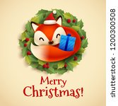 christmas greeting card with... | Shutterstock .eps vector #1200300508