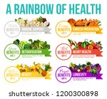 color diet  6 days eating... | Shutterstock .eps vector #1200300898