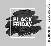 black friday sale banner design.... | Shutterstock .eps vector #1200301078