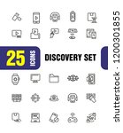 discovery icons. set of line... | Shutterstock .eps vector #1200301855