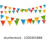 color flags garland... | Shutterstock .eps vector #1200301888