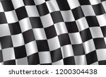 car race or motorsport rally... | Shutterstock .eps vector #1200304438