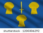 flag of cheshire is a county in ... | Shutterstock . vector #1200306292