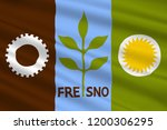 flag of fresno is a city in... | Shutterstock . vector #1200306295