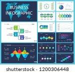business inforgraphic design... | Shutterstock .eps vector #1200306448
