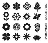 vector set of 16 different... | Shutterstock .eps vector #1200310102