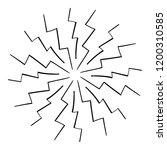 vintage zig zag sunburst... | Shutterstock .eps vector #1200310585