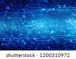 digital abstract technology... | Shutterstock . vector #1200310972