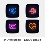 neon glow lights. set of... | Shutterstock .eps vector #1200318685