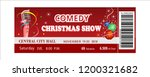 comedy christmas show ticket ... | Shutterstock .eps vector #1200321682