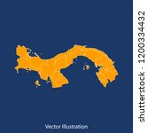 panama map   high detailed... | Shutterstock .eps vector #1200334432