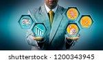 investor predicting cost... | Shutterstock . vector #1200343945