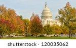 Stock photo us capitol building in autumn washington dc united states 120035062