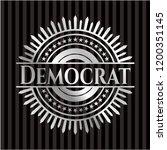 democrat silvery badge or emblem | Shutterstock .eps vector #1200351145