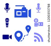 broadcast icon. broadcast icons ... | Shutterstock .eps vector #1200353788