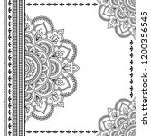 stylized with henna tattoos... | Shutterstock .eps vector #1200356545