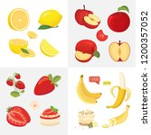 vegetarian food icons in... | Shutterstock .eps vector #1200357052