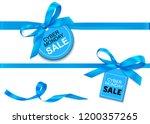 decorative horizontal blue... | Shutterstock .eps vector #1200357265