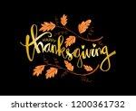 hand drawn thanksgiving... | Shutterstock .eps vector #1200361732
