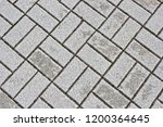 background of grey cobbles... | Shutterstock . vector #1200364645