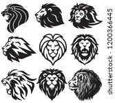 lion logo set collection.... | Shutterstock .eps vector #1200366445