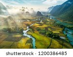 beautiful step of rice terrace... | Shutterstock . vector #1200386485