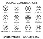 the 12 zodiacal constellations. ... | Shutterstock .eps vector #1200391552