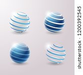 set of abstract 3d techno icons.... | Shutterstock .eps vector #1200392545