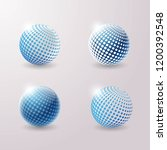 set of abstract 3d techno icons.... | Shutterstock .eps vector #1200392548