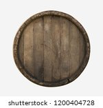 Wooden Barrel Top View Isolated ...