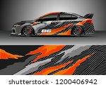 racing car wrap design vector.... | Shutterstock .eps vector #1200406942