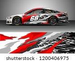 racing car wrap design vector.... | Shutterstock .eps vector #1200406975
