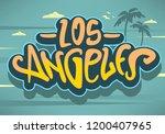 los angeles california  label...   Shutterstock .eps vector #1200407965