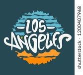 los angeles california  label...   Shutterstock .eps vector #1200407968