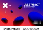 trendy flyer gradient... | Shutterstock .eps vector #1200408025