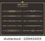set of art deco gold... | Shutterstock .eps vector #1200414325