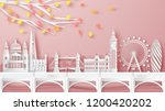 illustration of london city ... | Shutterstock .eps vector #1200420202