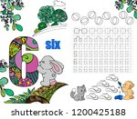 puzzles for children. workbook... | Shutterstock .eps vector #1200425188