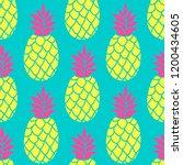 pineapple seamless pattern in... | Shutterstock . vector #1200434605