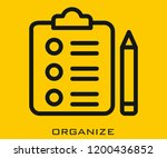 organize icon signs | Shutterstock .eps vector #1200436852