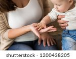 family  parenthood and people... | Shutterstock . vector #1200438205