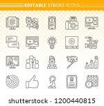 blogging online thin line icon...   Shutterstock .eps vector #1200440815