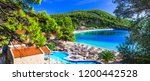 greek holidays   beautiful... | Shutterstock . vector #1200442528