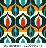 seamless retro pattern in the... | Shutterstock .eps vector #1200444148