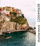 colorful houses in manarola... | Shutterstock . vector #1200444658