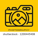 photography icon signs | Shutterstock .eps vector #1200445408