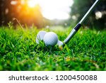 golf ball and golf club in...   Shutterstock . vector #1200450088